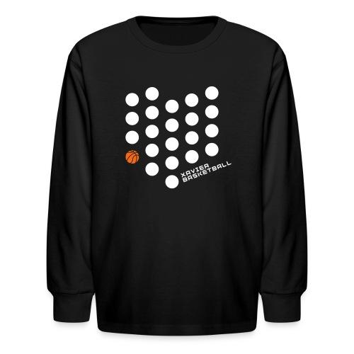 Xavier Basketball Shirts - Kids - Kids' Long Sleeve T-Shirt