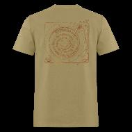 T-Shirts ~ Men's T-Shirt ~ mvyradio Phonograph Spiral -- design on back