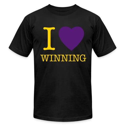 I Heart Winning - Black - Men's  Jersey T-Shirt