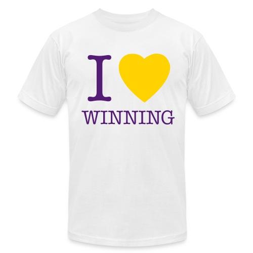 I Heart Winning - White - Men's Fine Jersey T-Shirt