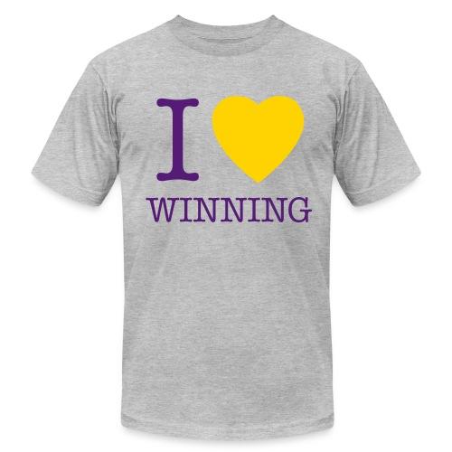 I Heart Winning - Light Grey - Men's Fine Jersey T-Shirt