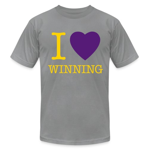 I Heart Winning - Dark Grey - Men's Fine Jersey T-Shirt