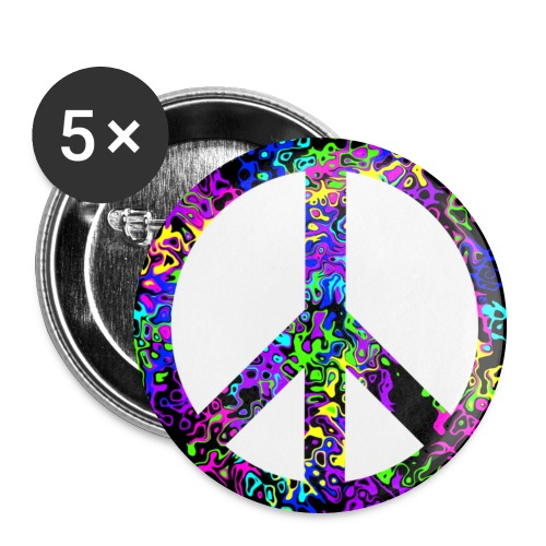 Peace Sign Buttons - Large Buttons