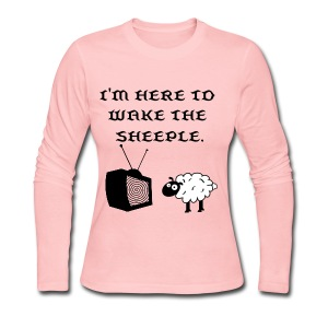 Wake the Sheeple (Customizable) Women's - Women's Long Sleeve Jersey T-Shirt