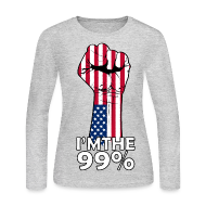 Long Sleeve Shirts ~ Women's Long Sleeve Jersey T-Shirt ~ Power to the 99% Women's LS