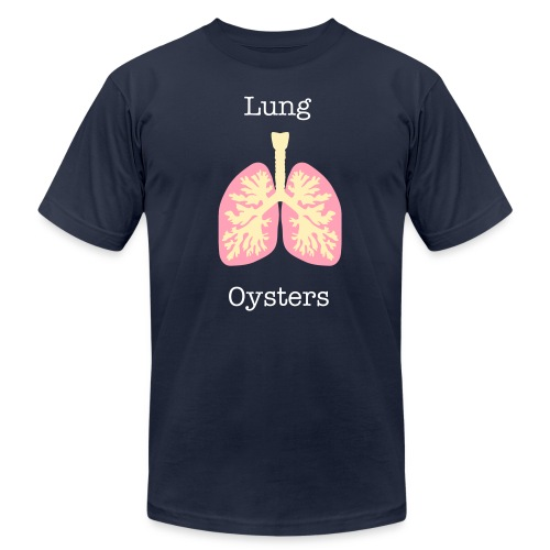 Lung Oysters Tee - CLICK ON IMAGE FOR BACK DETAIL - Men's Fine Jersey T-Shirt