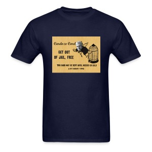 Mens Get Out of Jail Free Cardozo Card - Men's T-Shirt