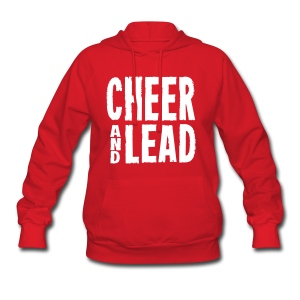 Cheer and Lead Red Women's Hooded Sweatshirt - Women's Hoodie