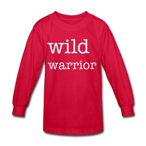 Wild Warrior Kid's Long Sleeve T-Shirt - Kids' Long Sleeve T-Shirt