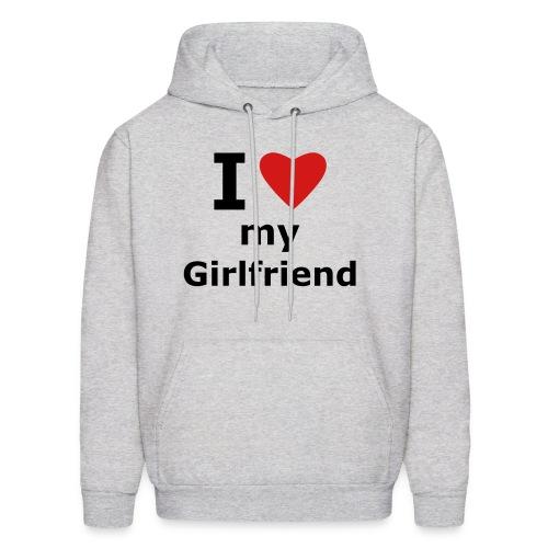 i love my girlfriend hoodie - Men's Hoodie