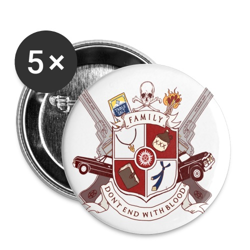 Family Don't End With Blood crest - Large Buttons