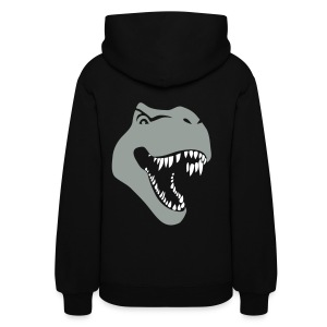 animal t-shirt tyrannosaurus rex t-rex  dino dinosaur jurassic raptor - Women's Hoodie