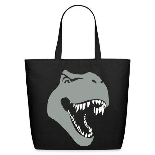 animal t-shirt tyrannosaurus rex t-rex  dino dinosaur jurassic raptor - Eco-Friendly Cotton Tote