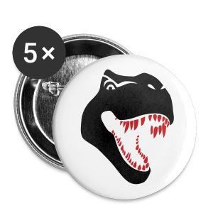 animal t-shirt tyrannosaurus rex t-rex  dino dinosaur jurassic raptor - Large Buttons