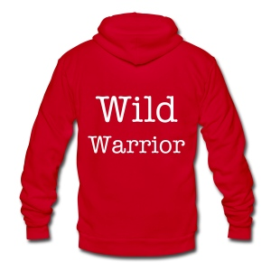Wild Warrior Zip Up Hoodie - Unisex Fleece Zip Hoodie by American Apparel