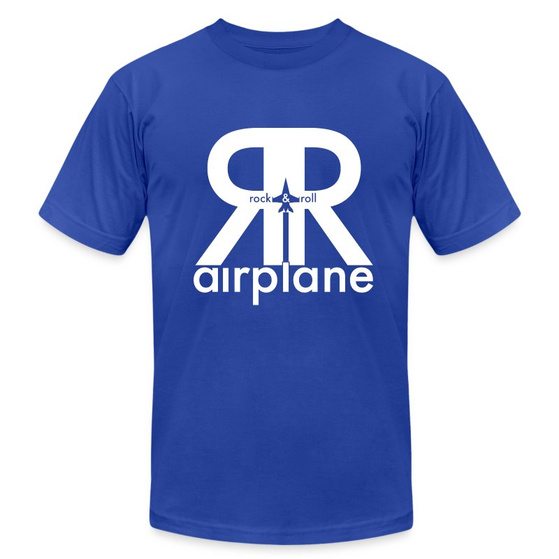 Rock and Roll Airplane - Adult - Men's T-Shirt by American Apparel