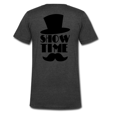 SHOW TIME MAGIC hat and moustache T-Shirts