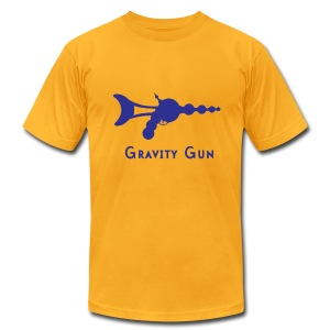 Gravity Gun - Men's T-Shirt by American Apparel