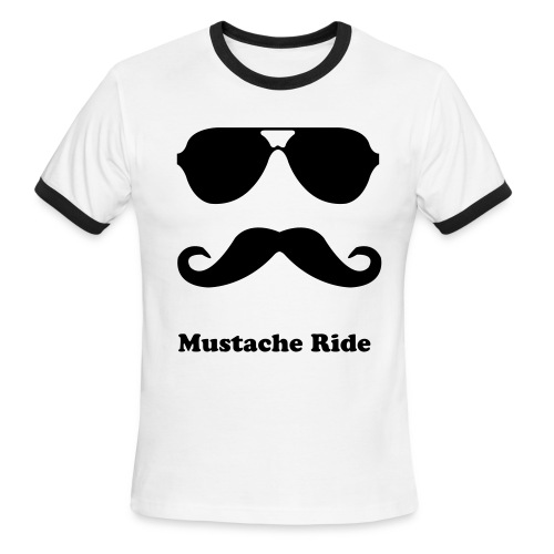 Mustache Ride - Men's Ringer T-Shirt