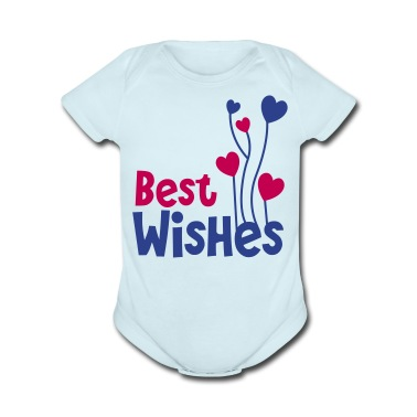 best wishes birthday image with balloons Baby Bodysuits