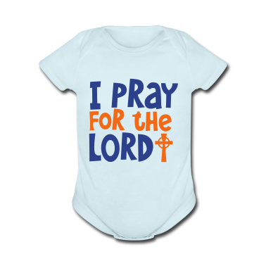 I PRAY FOR THE LORD with cross Baby Bodysuits