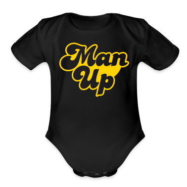 MAN UP Baby Bodysuits