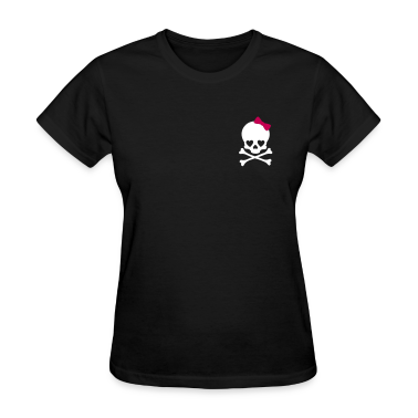 Small Girlie Skull Women's T-Shirts