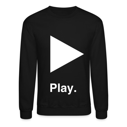 (Mens) *BLACK* Play Crewneck Sweater - Crewneck Sweatshirt