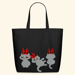 Cute Santas kitten helpers Christmas design - Eco-Friendly Cotton Tote