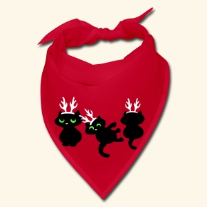 Cute Santas kitten helpers Christmas design - Bandana