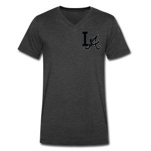 LA Men's V-Neck Shirt - Men's V-Neck T-Shirt by Canvas