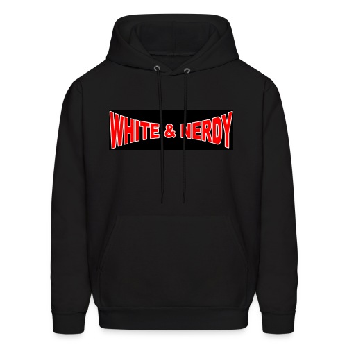 White And Nerdy hoodie with Schrodinger's Wave Equation on Back (Hoodie does not have black rectangle around letters) - Men's Hoodie