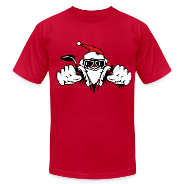 Santa Claus on Motorcycle T-Shirts
