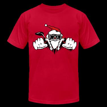 Santa Claus on Motorcycle T-Shirts