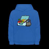 Sweatshirts ~ Kids' Hoodie ~ Paleo Child's Primal Kitchen Hooded Sweatshirt Featuring Lunchbox and Kettlebell