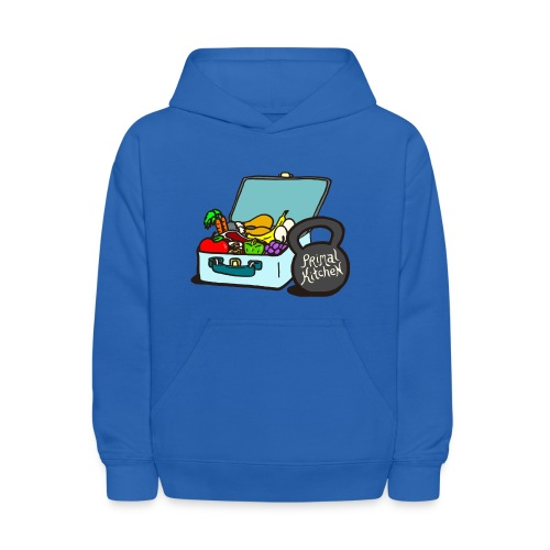 Paleo Child's Primal Kitchen Hooded Sweatshirt Featuring Lunchbox and Kettlebell - Kids' Hoodie