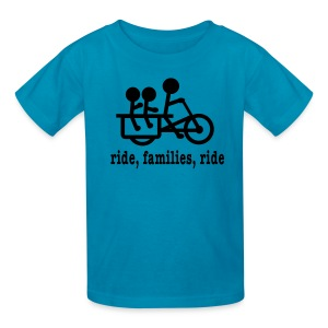 Youth Longtail Ride Families  - Kids' T-Shirt