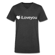 T-Shirts ~ Men's V-Neck T-Shirt by Canvas ~ iLoveyou