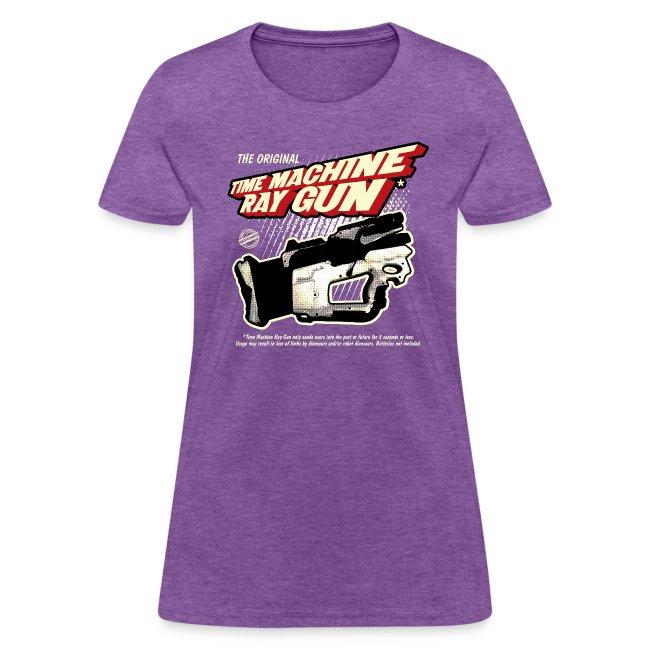 Time Machine Ray Gun Womens T