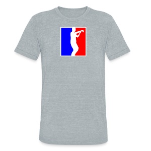 Men's Vintage Grey American Apparel Tai Chi T-Shirt - Unisex Tri-Blend T-Shirt by American Apparel