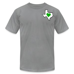 Men's American Apparel Texas Green Heart T-Shirt - Men's T-Shirt by American Apparel