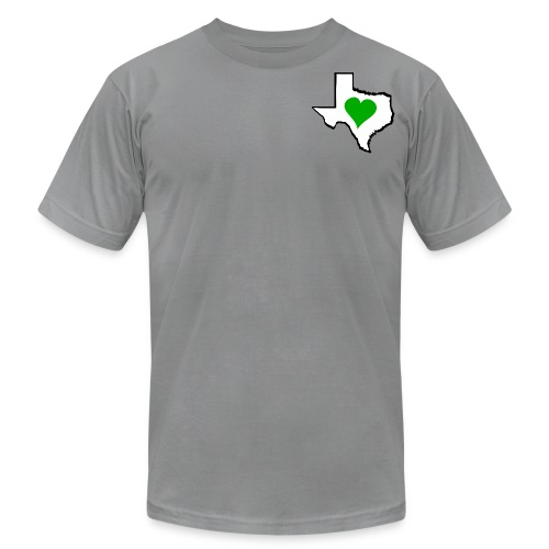 Men's American Apparel Texas Green Heart T-Shirt - Men's  Jersey T-Shirt