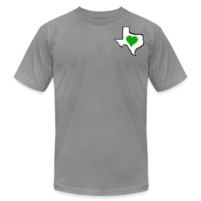 Men's American Apparel Texas Green Heart T-Shirt