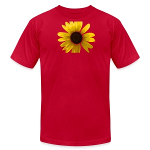 Men's Sunflower T-shirt in Brown - Men's T-Shirt by American Apparel