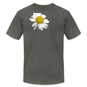 Men's American Apparel Asphualt colored T-Shirt with Daisy - Men's T-Shirt by American Apparel