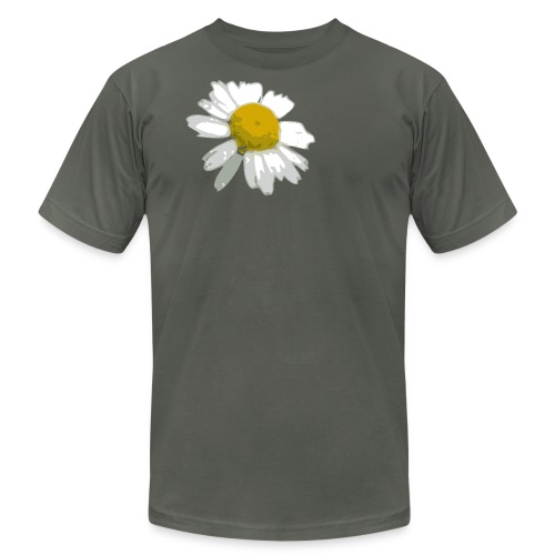 Men's American Apparel Asphualt colored T-Shirt with Daisy - Men's  Jersey T-Shirt