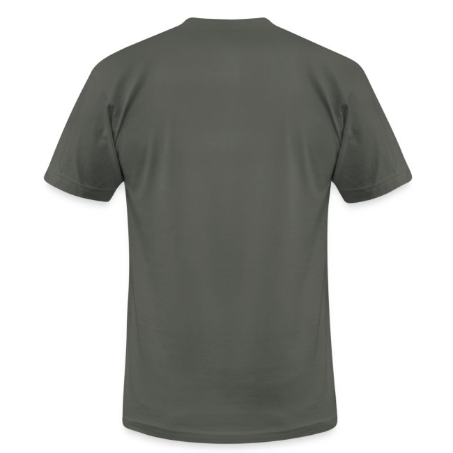 Men's American Apparel Asphualt colored T-Shirt with Daisy