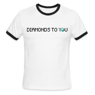 T-Shirts ~ Men's Ringer T-Shirt ~ Diamonds To You! Mens Shirt. The Minecraft Monday Show