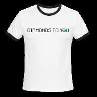 T-Shirts ~ Men's Ringer T-Shirt ~ Diamonds To You! Mens Shirt. The Minecraft Monday Show