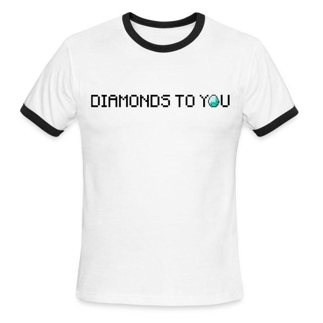 Diamonds To You! Mens Shirt. The Minecraft Monday Show